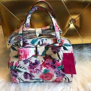 Betsey Johnson Floral Dome Satchel w/ Bow